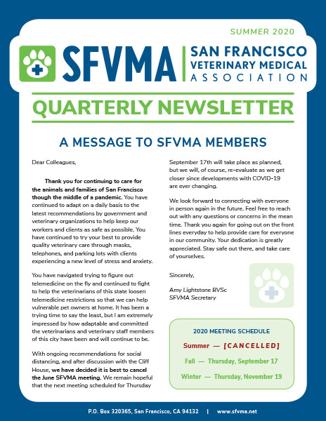 SFVMA Newsletter — Summer 2020